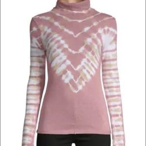 Free People Psychedelic Tie-Dye Turtleneck-NWT-L